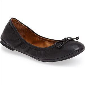 Lucky brand eadda Black leather ballet flat 8.5